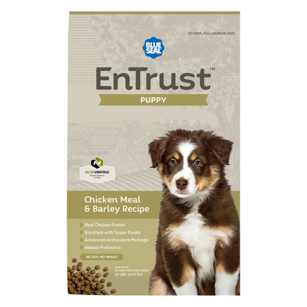 EnTrust Puppy Chicken Meal & Barley Recipe